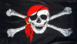 5ft x 3ft Pirate Ship Jolly Roger Skull and Crossbone with Bandana Flag Flags